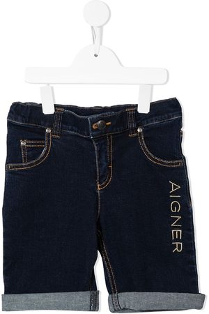 Aigner Embroidered-logo shorts