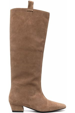 By Far Knee-length suede boots