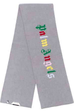 Palm Angels Logo-print knit scarf