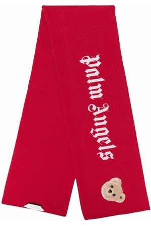 Palm Angels Teddy-bear knit scarf