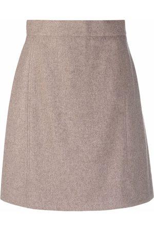 12 STOREEZ Seam-detail wool-blend mini skirt