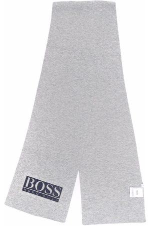 HUGO BOSS Logo-printed scarf