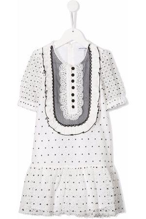 Self-Portrait Kids Girls Casual Dresses - Hibiscus polka-dot dress