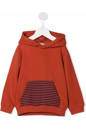 KNOT Boys Hoodies - Stripe-print cotton hoodie