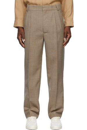 FEAR OF GOD Men Formal Pants - Double Pleated Tapered Trousers