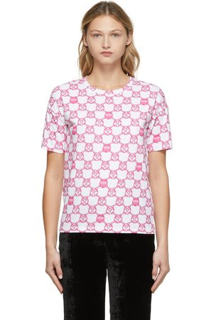Moschino White & Pink Double Question Mark Chain T-shirt