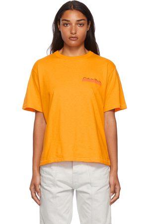 Calvin Klein Women Short Sleeve - Orange Season 2 Heavy Weight T-Shirt