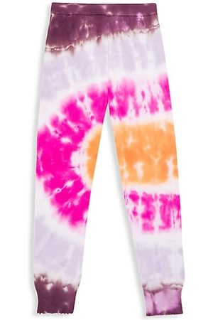 MINNIE ROSE Girls Joggers - Girl's Tie-Dye Frayed Knit Pants