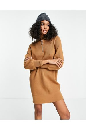 Y.A.S Zip front knitted dress in