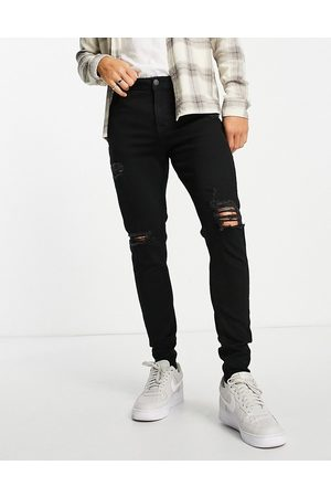 JACK & JONES Intelligence Pete carrot fit jeans in washed with rips