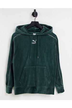 PUMA Iconic T7 velour hoodie in