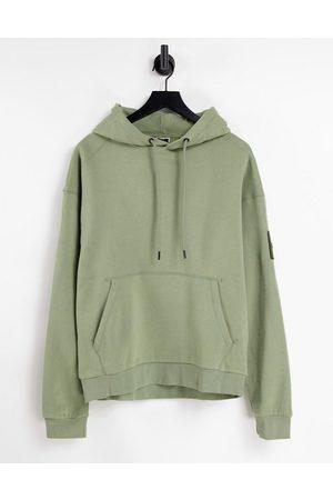 jack & jones Core oversized hoodie with arm logo in light