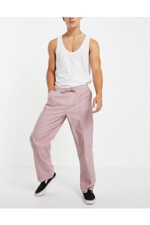 ASOS Wide fit trousers with pin tuck in
