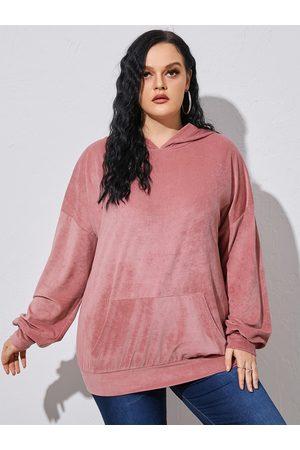 YOINS Plus Size Hooded Design Pocket Long Sleeves Sweatshirt