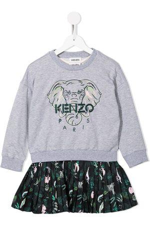 Kenzo Elephant-embroidered dress set