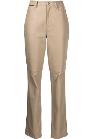 PROENZA SCHOULER WHITE LABEL Straight-leg leather trousers