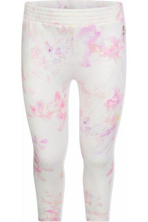 Roberto Cavalli Girls Leggings - Floral-print cotton leggings