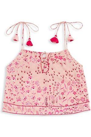 POUPETTE ST BARTH Girls Tank Tops - Little Girl's & Girl's Mara Self-Tie Top