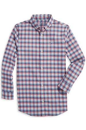 Vineyard Vines Boys Shirts - Little Boy's & Boy's Classic Gingham Performance Shirt