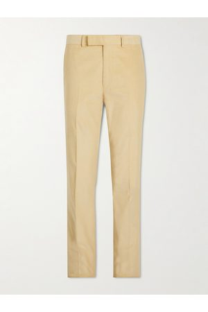 KINGSMAN Eggsy Straight-Leg Cotton and Cashmere-Blend Needlecord Trousers